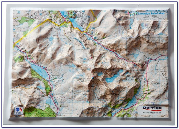 3d Relief Map French Alps