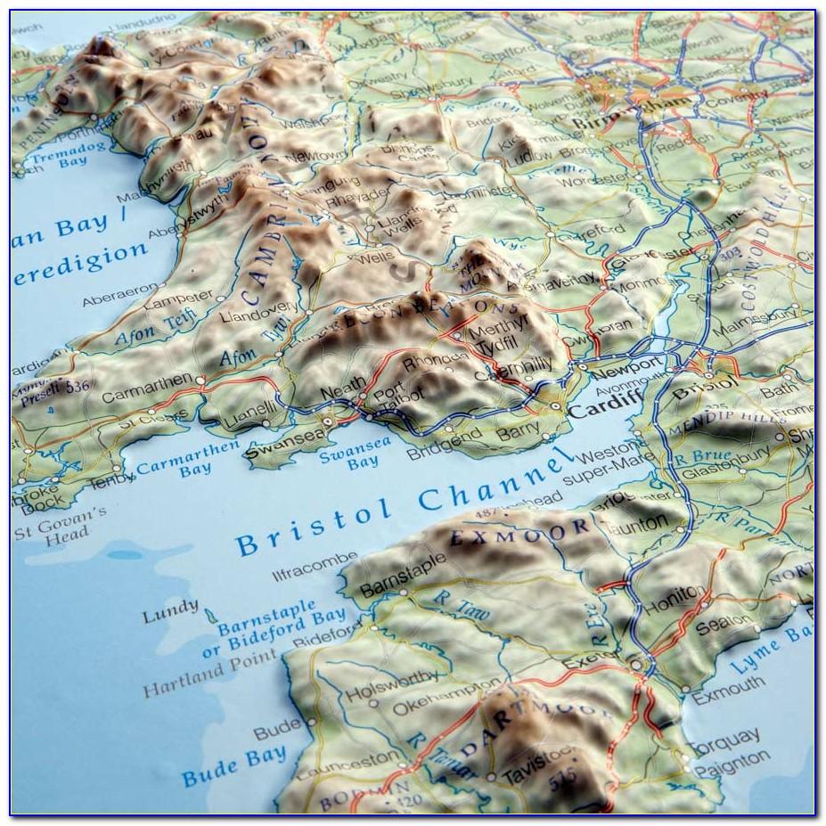 3d Relief Map Switzerland