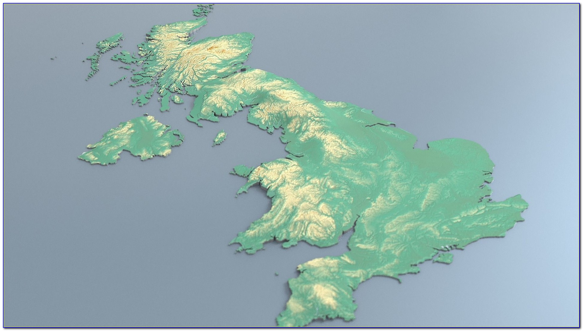 3d Relief Map Uk