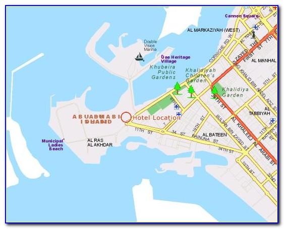 Abu Dhabi National Hotels Location Map