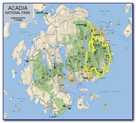 Acadia National Park Map Image