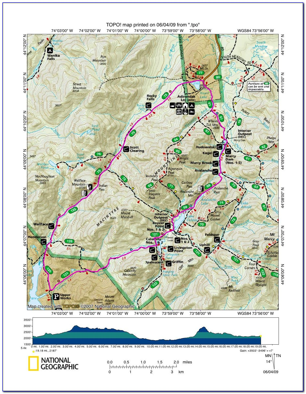 Adirondack Mountain Club Trail Maps