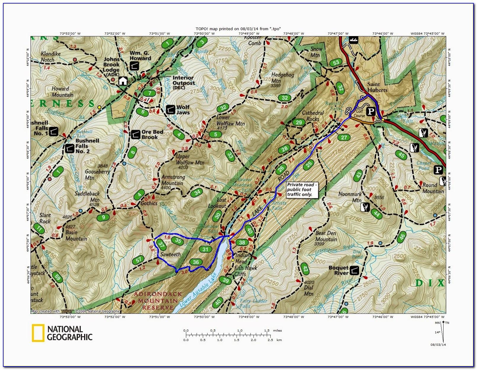 Adirondack Snowmobile Trail Maps