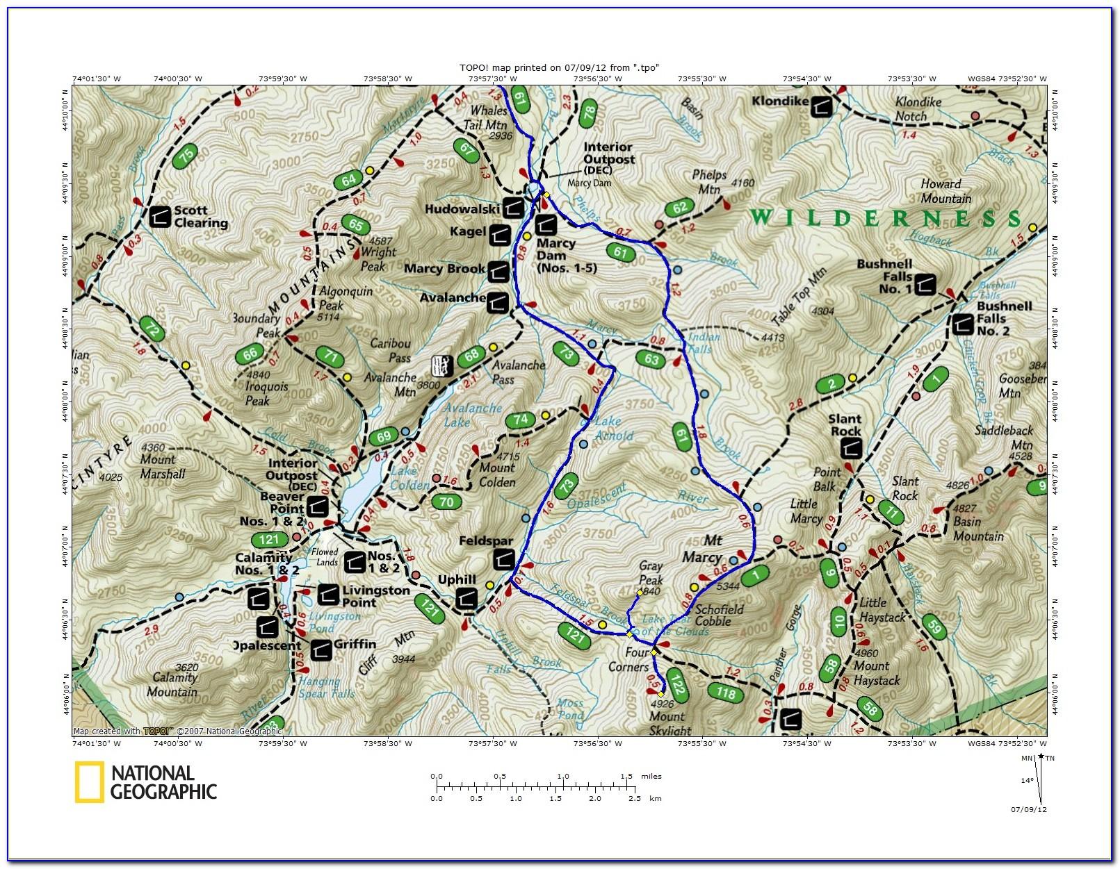 Adirondack Trail Maps Pdf