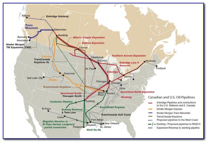 Alberta Oil Pipeline Map