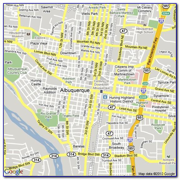 Albuquerque Hotels Map