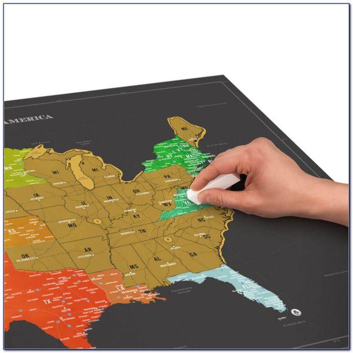 America Scratch Map