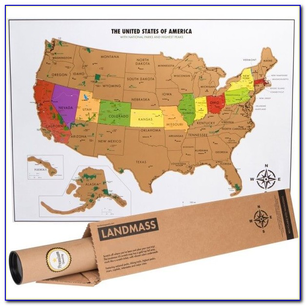America Scratch Off Map