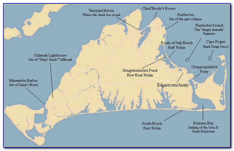 Amity Island Jaws Map