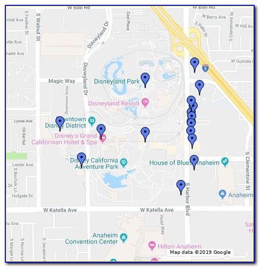 Anaheim Good Neighbor Hotels Map