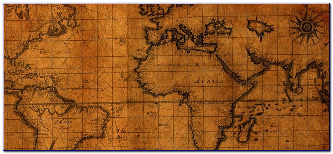 Ancient Map Desktop Wallpaper