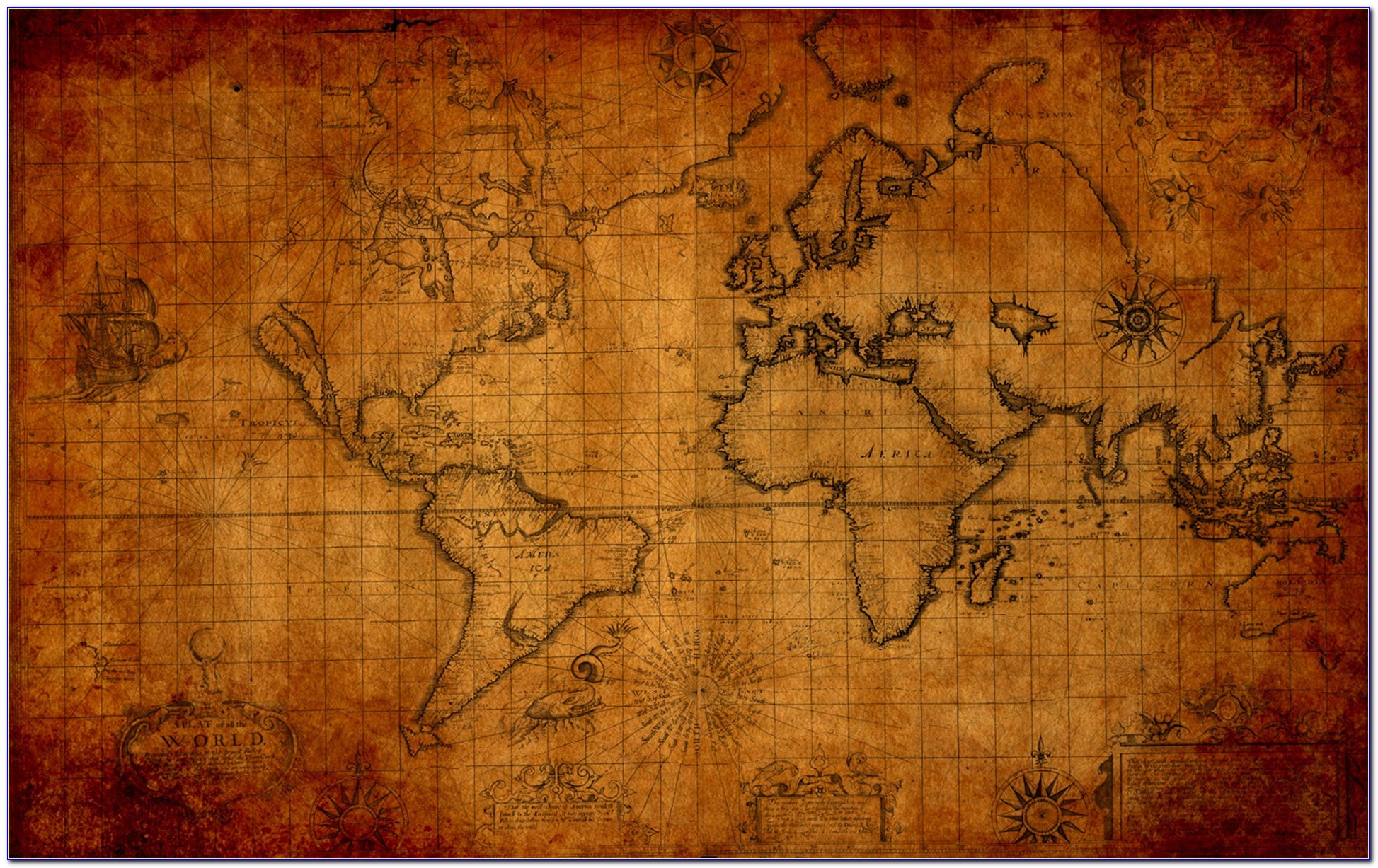 Ancient Map Hd Wallpapers
