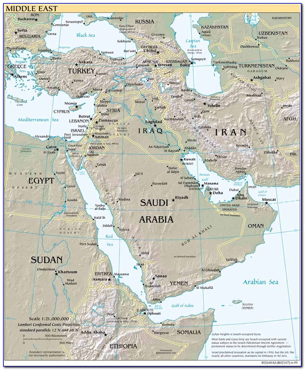 Ancient Maps Of Middle East And Egypt