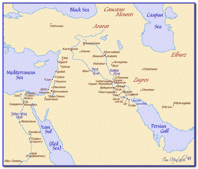 Ancient Maps Of The Middle East