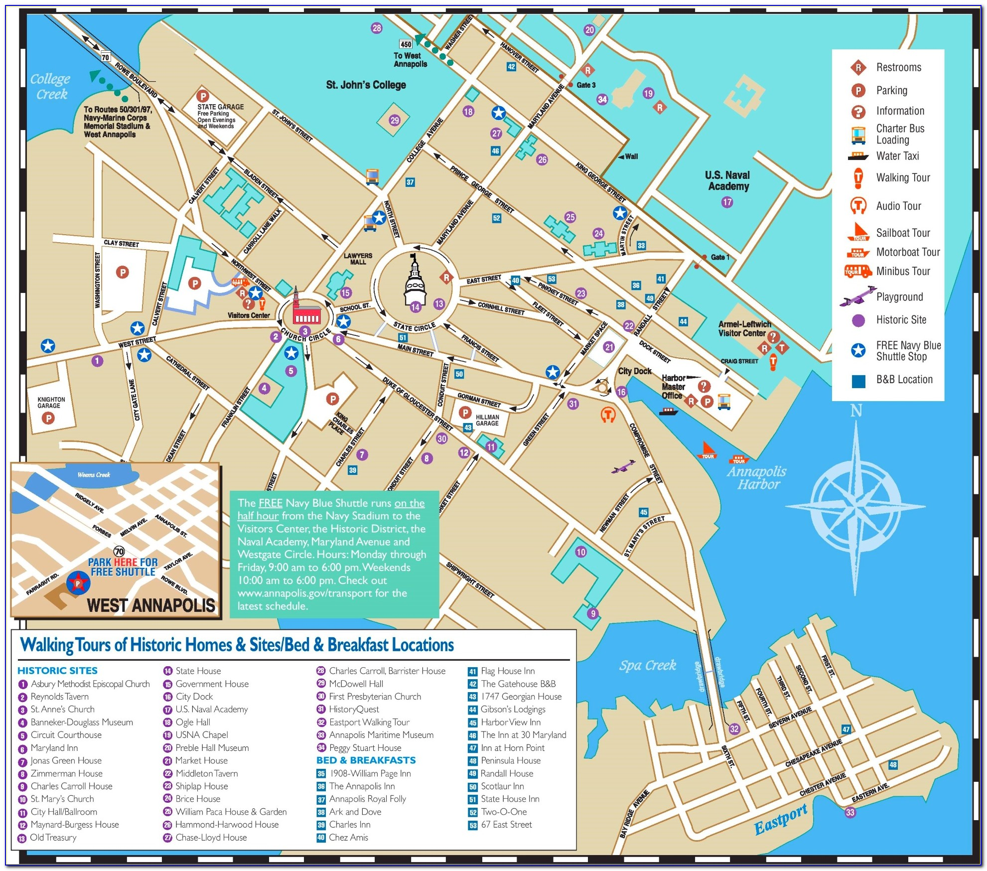 Annapolis Hotels Map