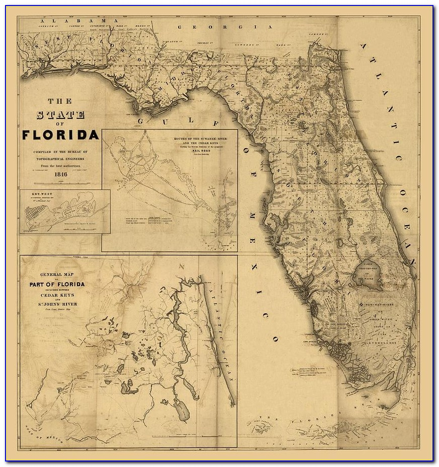 Antique Florida Maps