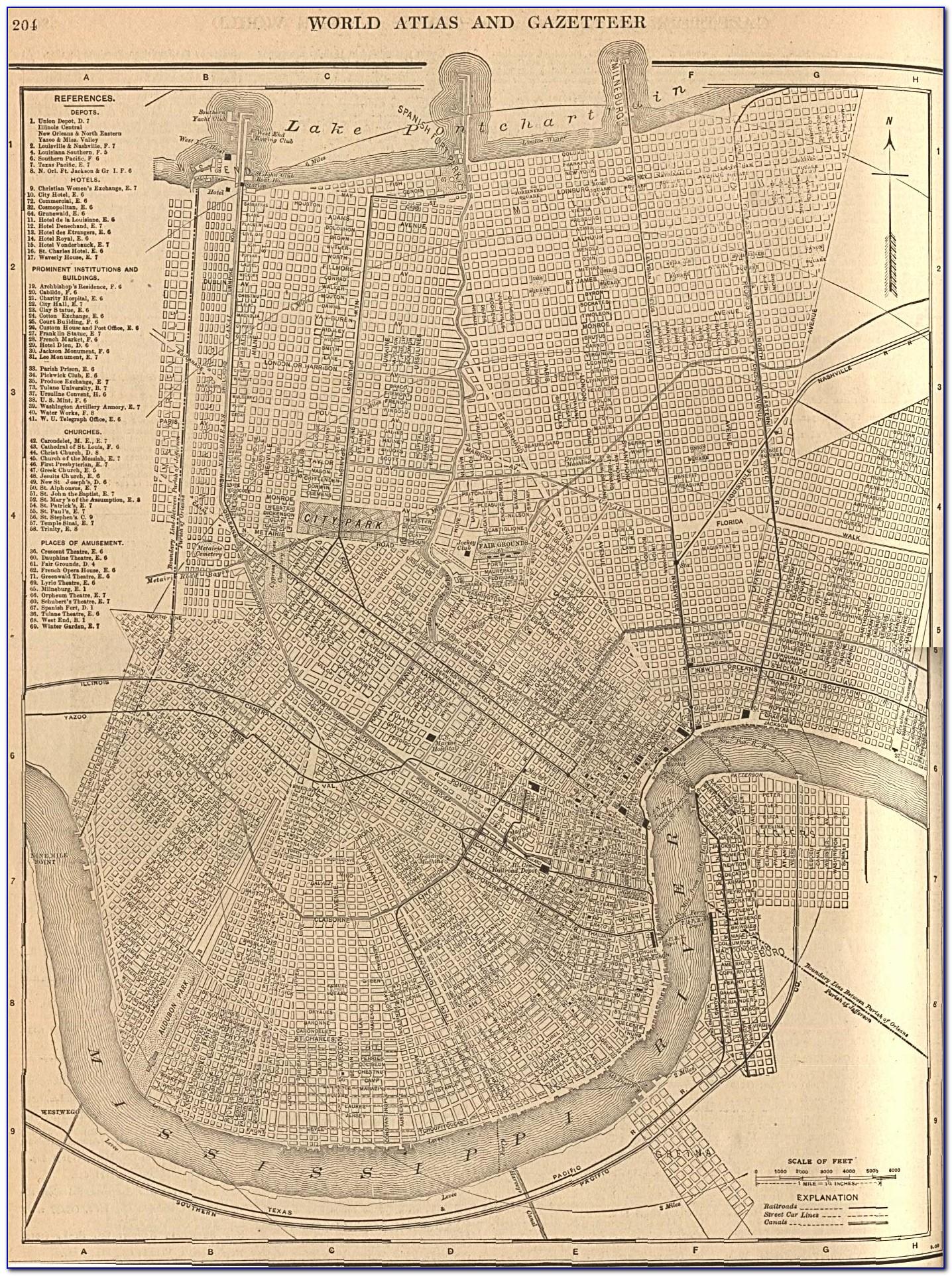 Antique Map New Orleans