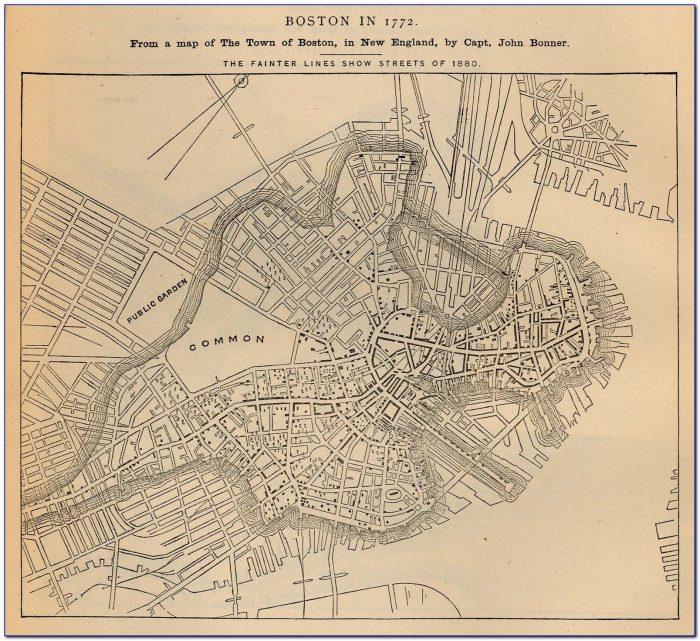 Antique Maps Boston Ma