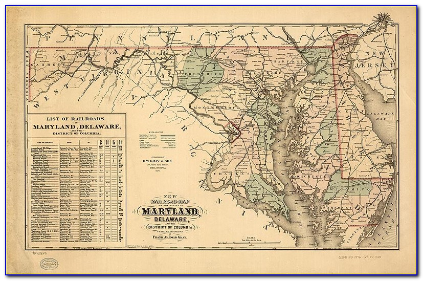Antique Maryland Map