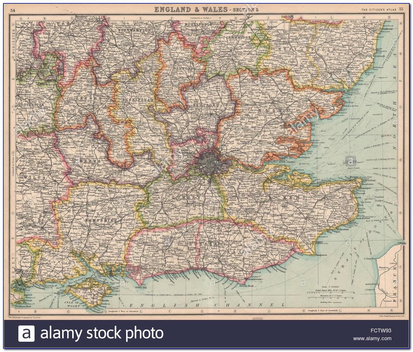 Antique Prints Maps Uk