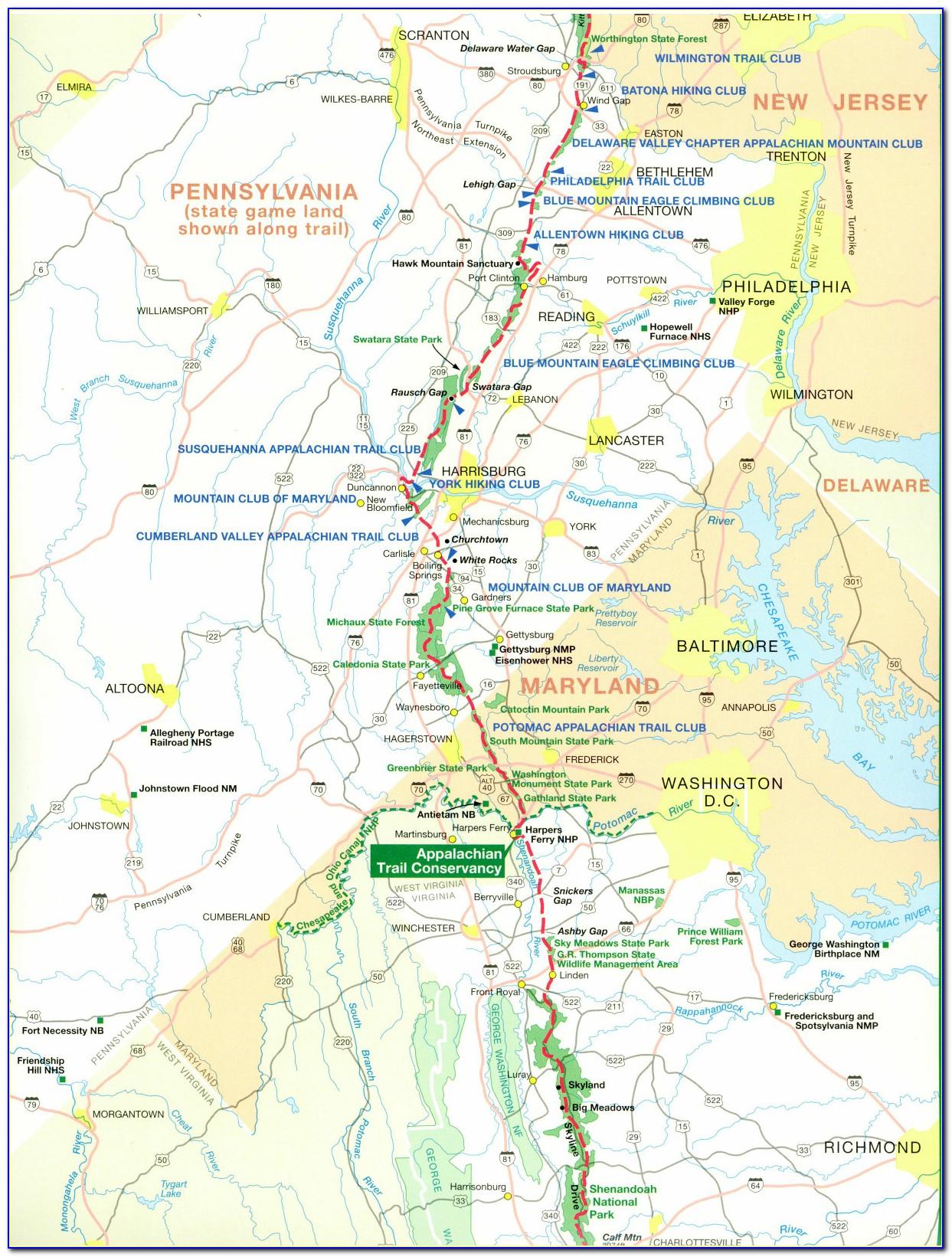 Appalachian Trail Guide Free Online
