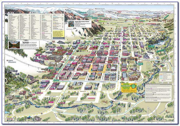 Aspen Accommodation Map