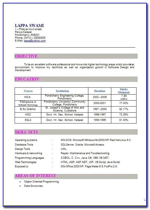 Attractive Resume Templates Free Download Word