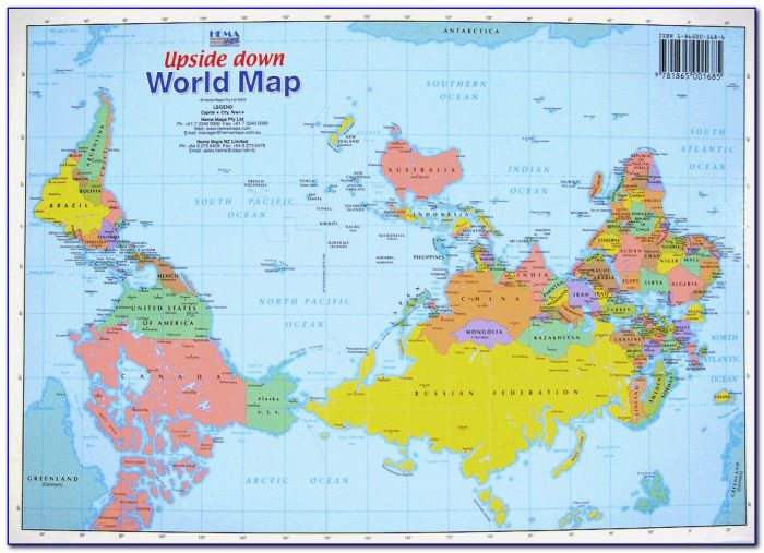 Australia Map Of The World Upside Down