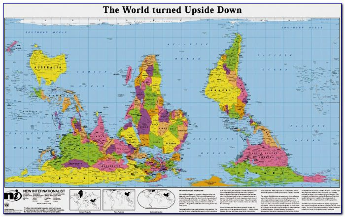 Australian Map Of The World Upside Down