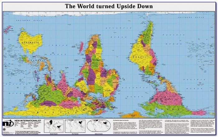 Australian Map Of The World Upside Down