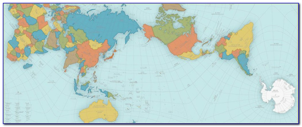 Authagraph World Map Printable