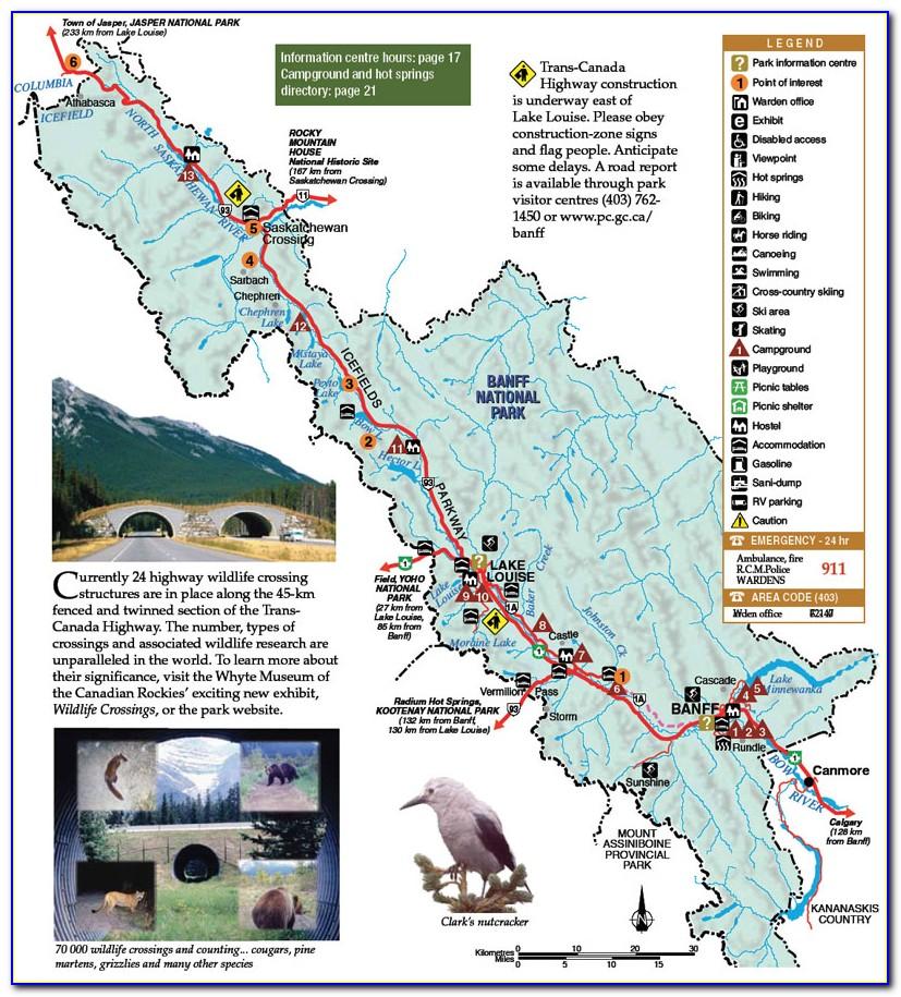 Banff National Park Backpacking Map