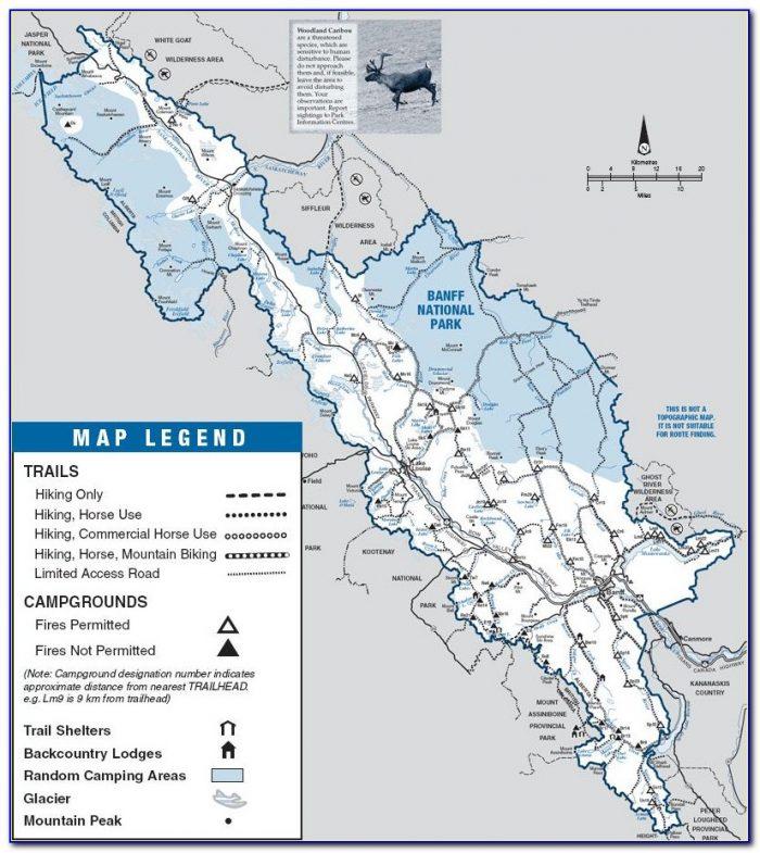 Banff National Park Hiking Map