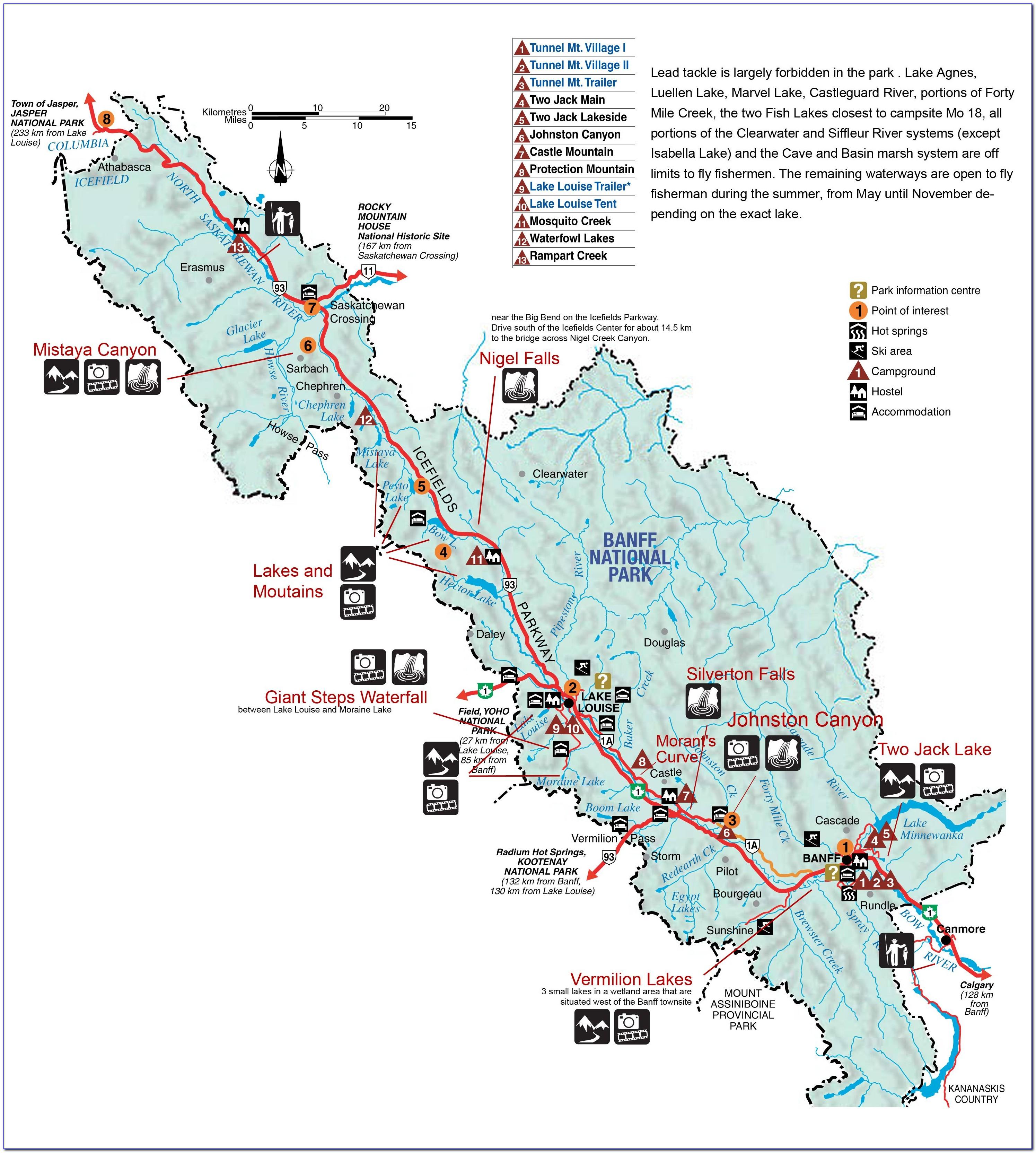 Banff National Park Trail Map Pdf