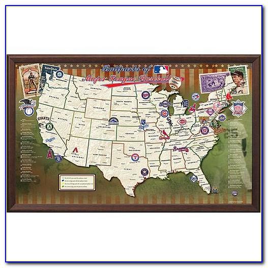 Baseball Stadium Map With Pins