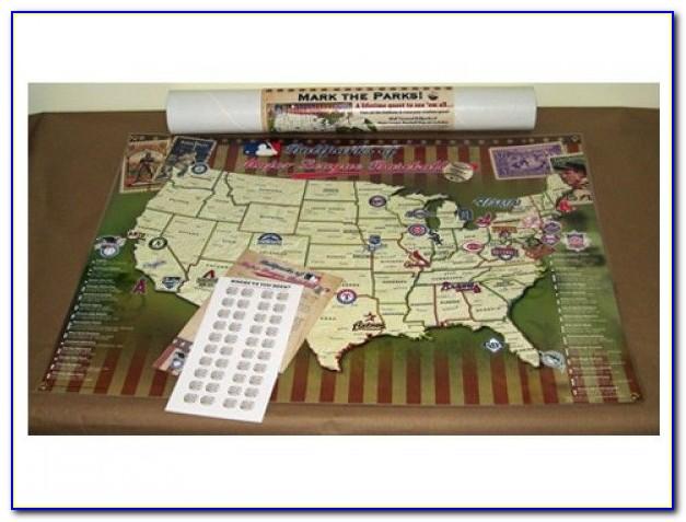 Baseball Stadium Travel Map Push Pin