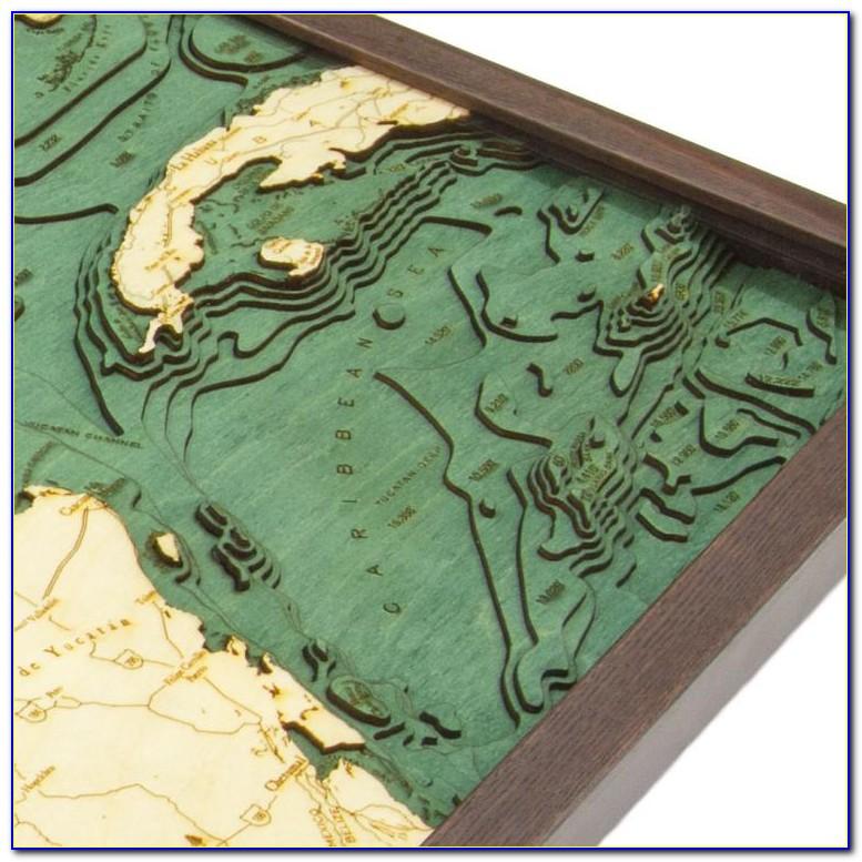 Bathymetric Wood Map