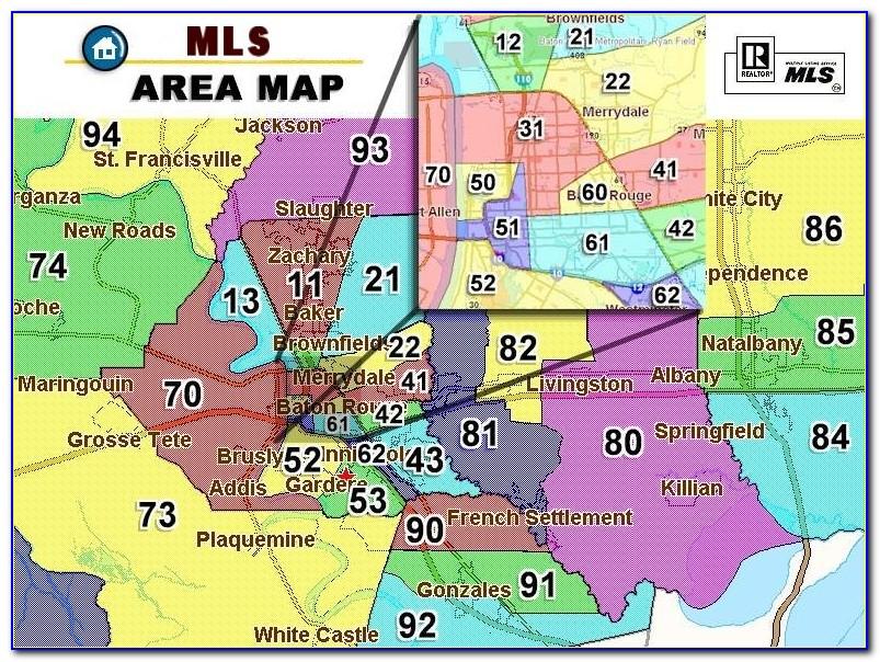 Baton Rouge Real Estate Area Map