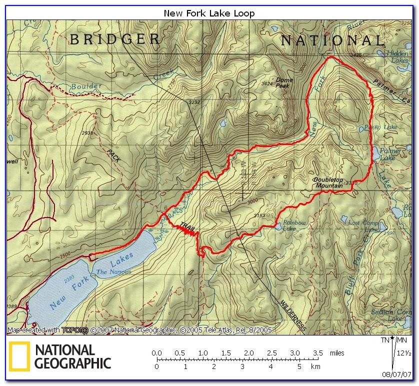 Beartooth Publishing Wind River Range Trail Map