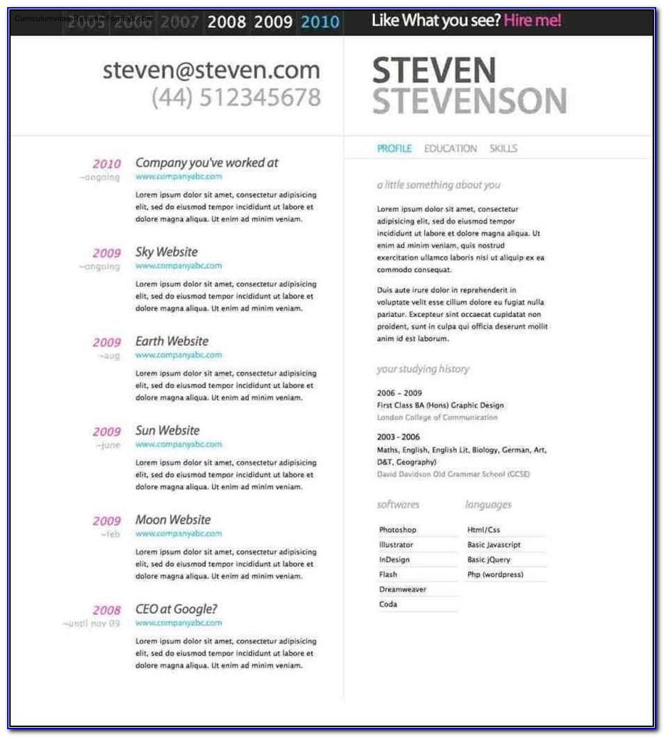 Beautiful Resume Templates