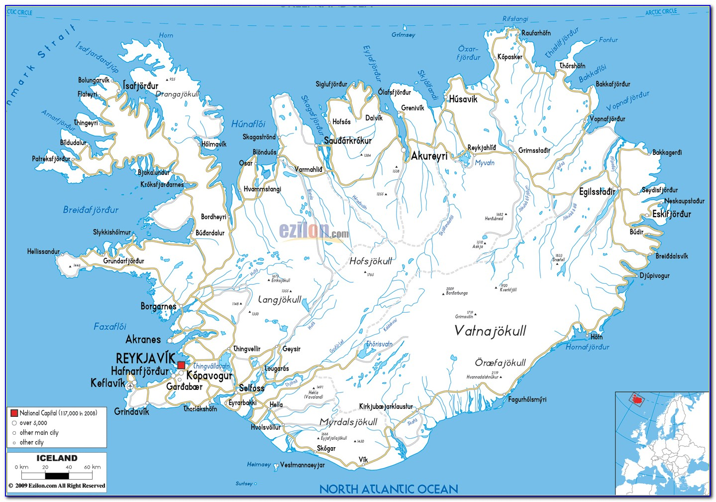 Best Iceland Road Maps