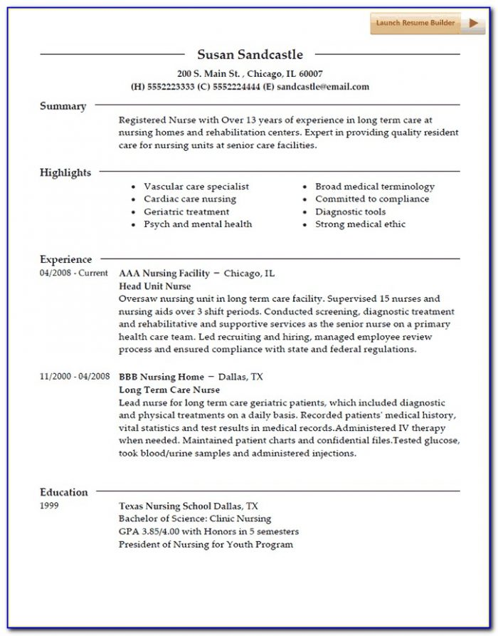 Best Nursing Resume Builder