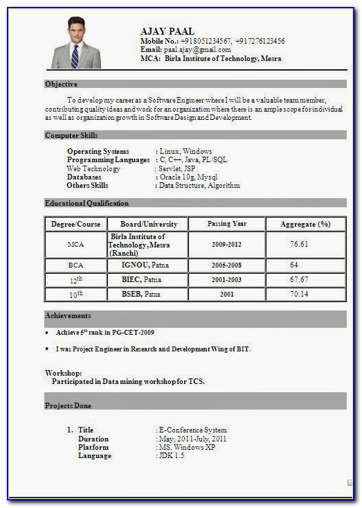 Best Resume Format Download For Engineers