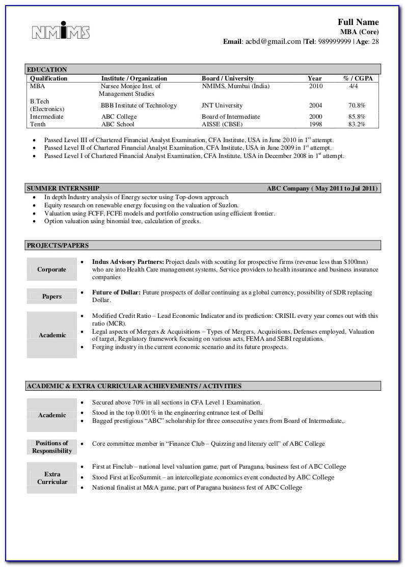 Best Resume Format Download In Word File