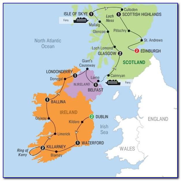 Best Travel Map Of Ireland