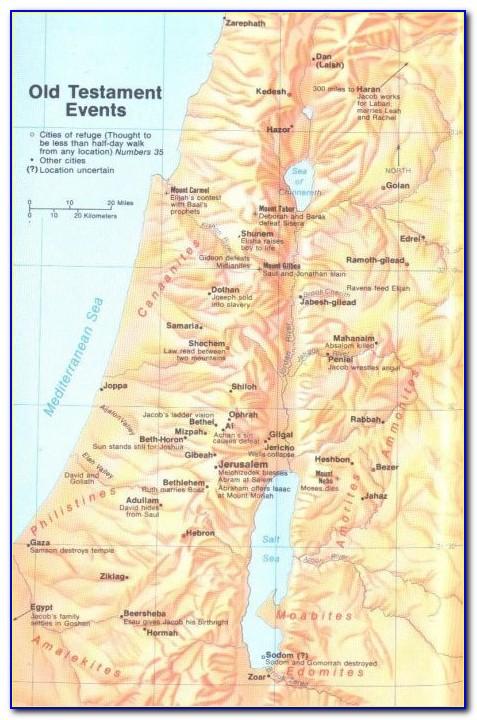 Bible Map New Testament Churches