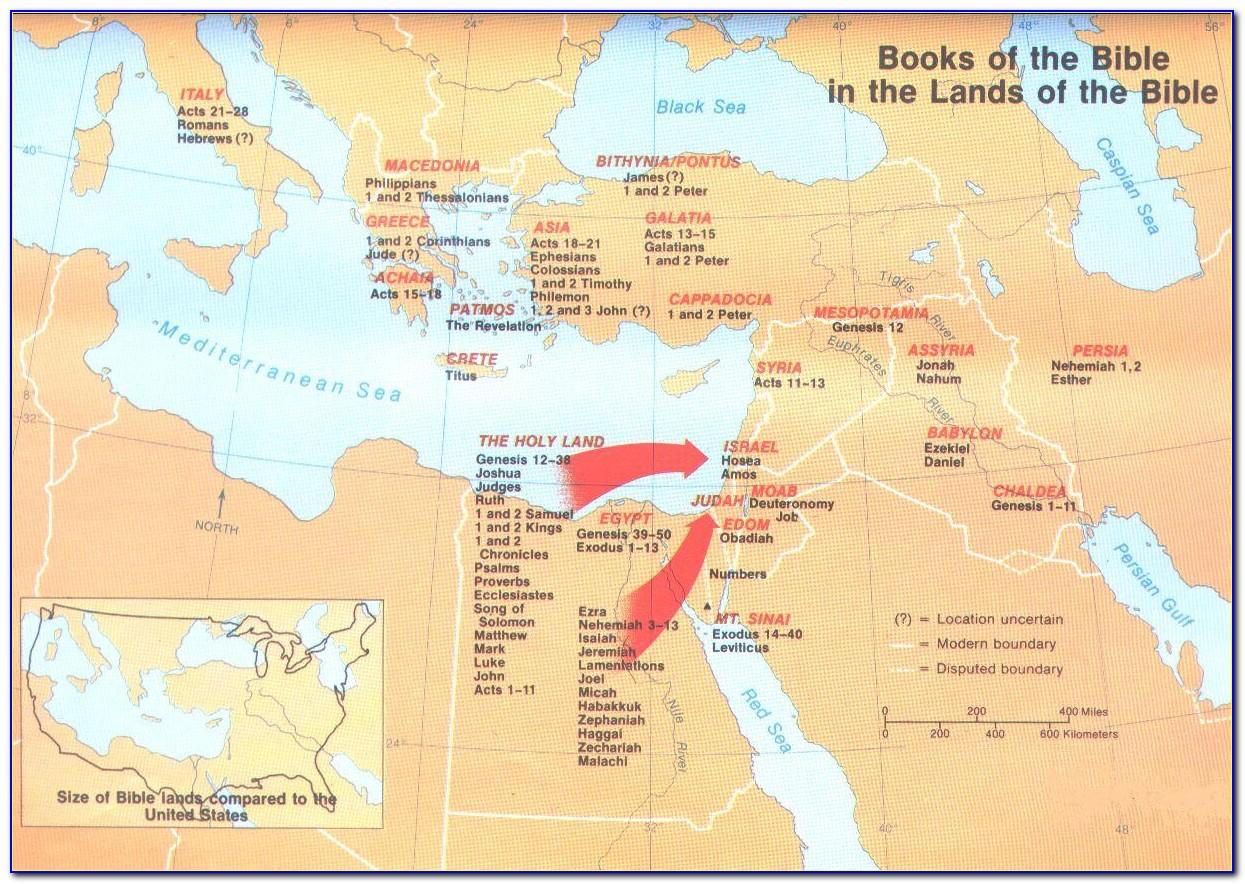 Bible Maps Land Of Nod