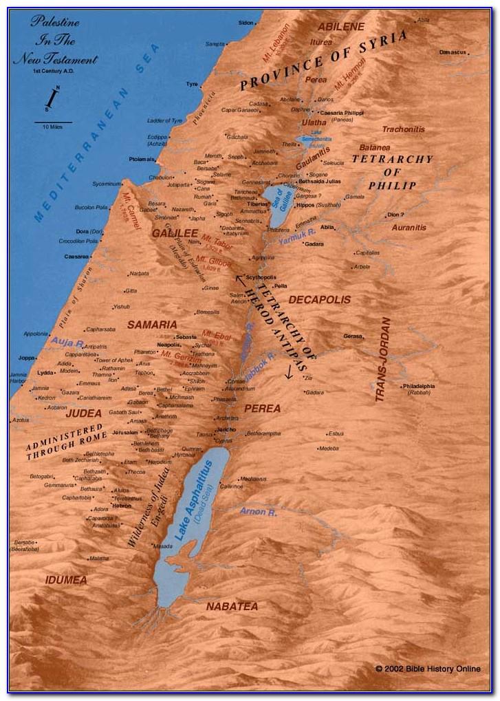 Bible Maps New Testament Free