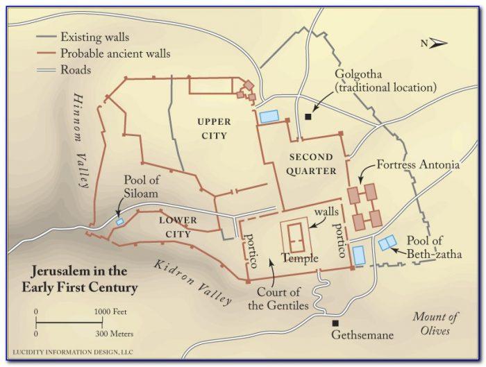 Bible Times Map Of Jerusalem
