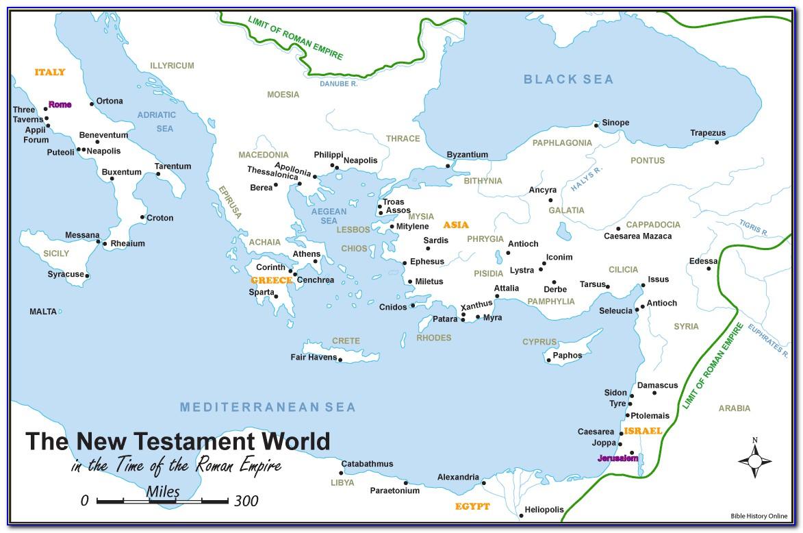 Biblical Map Israel New Testament
